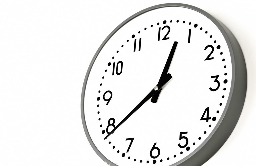時計-時間を決めて自宅学習