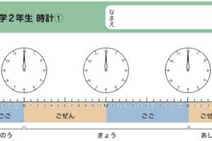 時計の読み方や時間と時刻