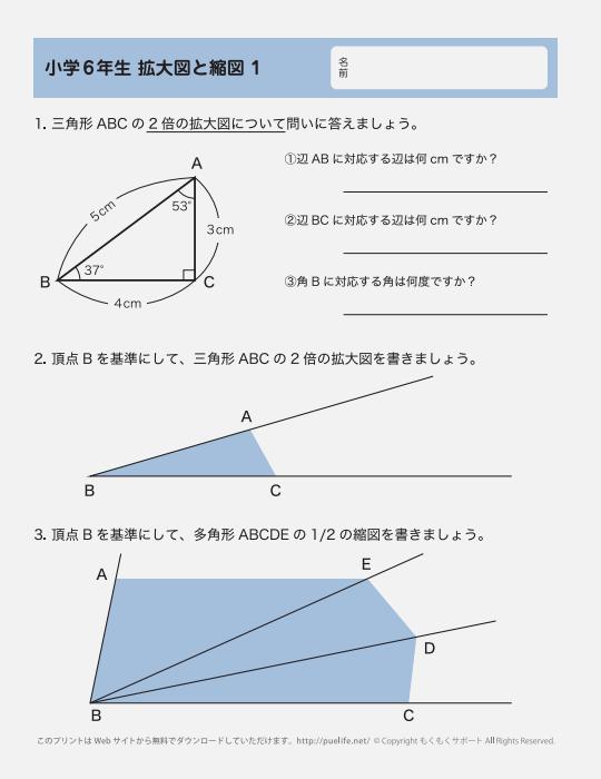 拡大図と縮図問題1