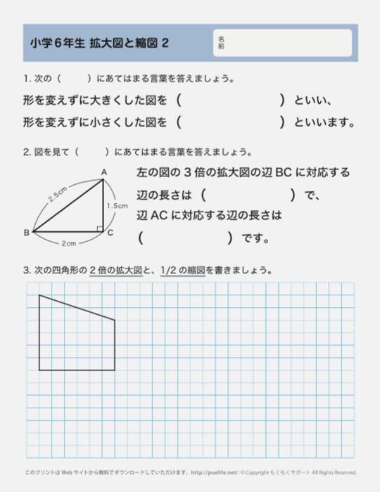 6年生-拡大図と縮図02